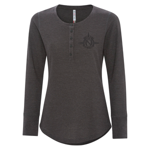NOS Ladies Thermal Long Sleeve Henley