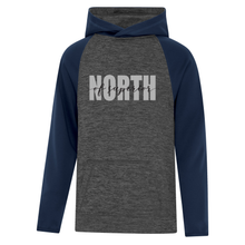Load image into Gallery viewer, North of Superior Dynamic Heather Fleece Two-Tone Youth Hoodie
