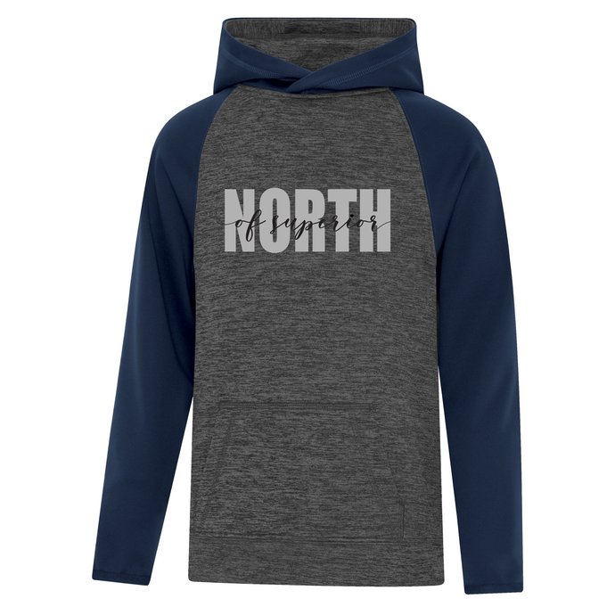 North of Superior Dynamic Heather Fleece Two-Tone Youth Hoodie