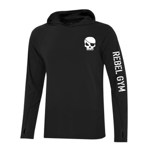 REBEL GYM Adult Long Sleeve Hooded Tee
