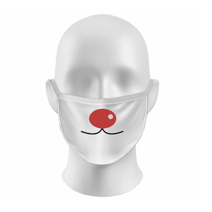 Red Nosed Face Mask