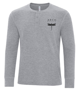 Arch Waffle Knit Henley
