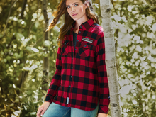 Load image into Gallery viewer, OutSpoken Women's Roots73 Sprucelake Long Sleeve Plaid Shirt