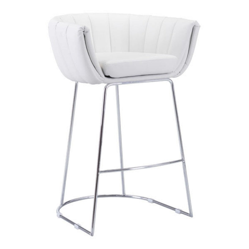 Affluent Counter Chair White