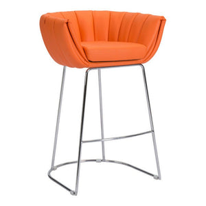 Affluent Counter Chair Orange