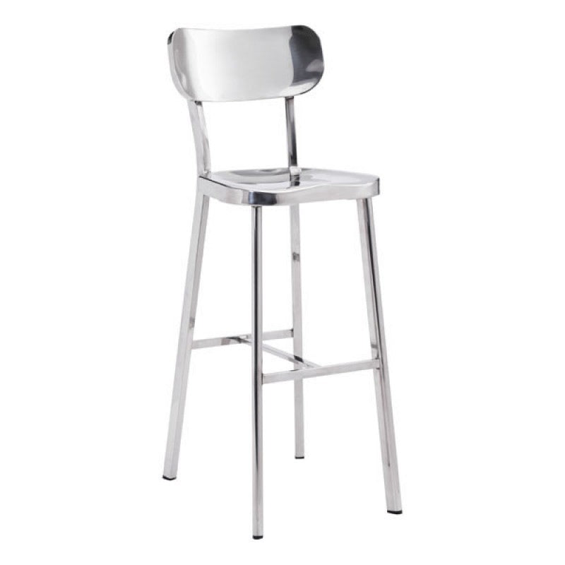 Crisp Counter Chair Stainless Steel