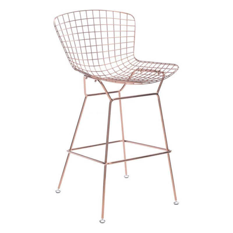 Swing Counter Chair Rose Gold