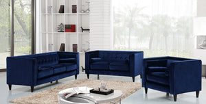 Halla Living Room Group Navy (Sofa)