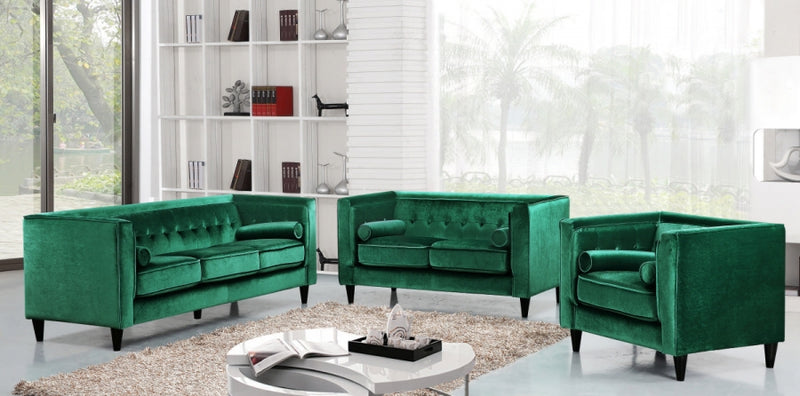 Halla Living Room Group Green (Sofa)
