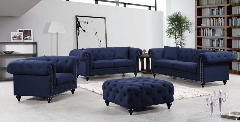 Corayne Living Room Group Navy (Sofa)