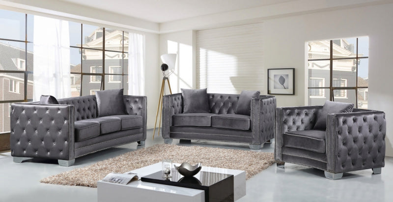 Glenna Living Room Group Grey (Sofa)