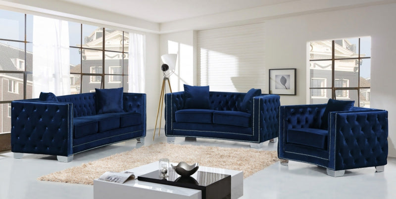 Glenna Living Room Group Navy (Sofa)
