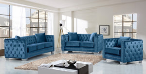 Glenna Living Room Group Blue (Sofa)