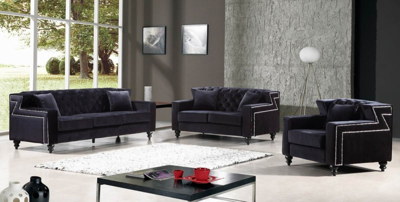 Chaviel Living Room Group Black (Sofa)