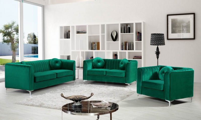 Hilen Living Room Group Green (Sofa)