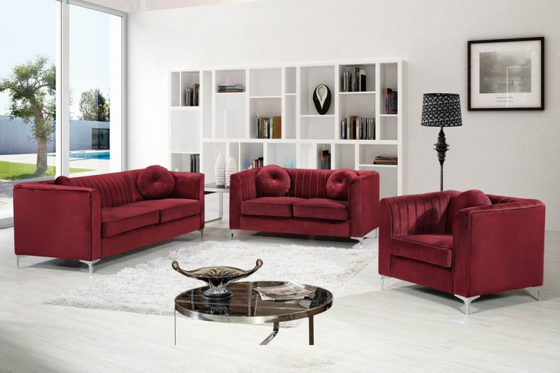 Hilen Living Room Group Burgundy (Sofa)