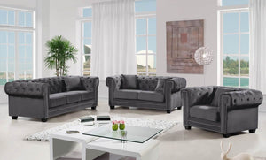 Jewel Living Room Collection Grey