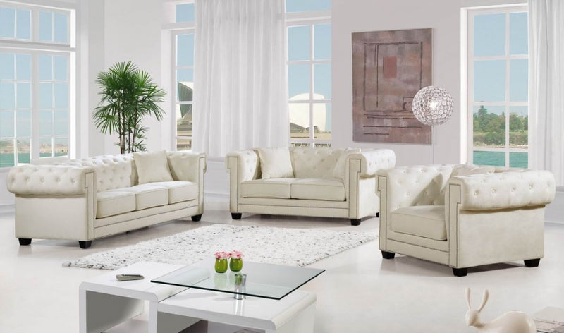 Jewel Living Room Collection Cream