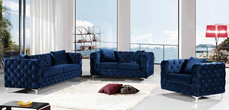Dyna Living Room Group Navy (Sofa)