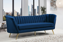Brienne Living Room Group Navy (Sofa)