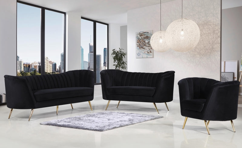 Brienne Living Room Group Black (Sofa)