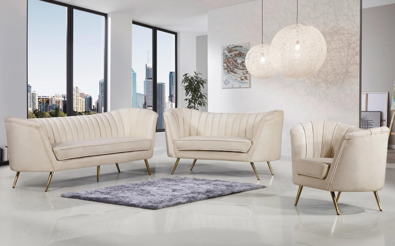 Brienne Living Room Group Cream (Sofa)