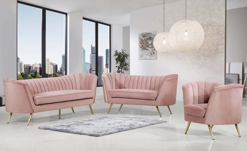 Brienne Living Room Group Pink (Sofa)