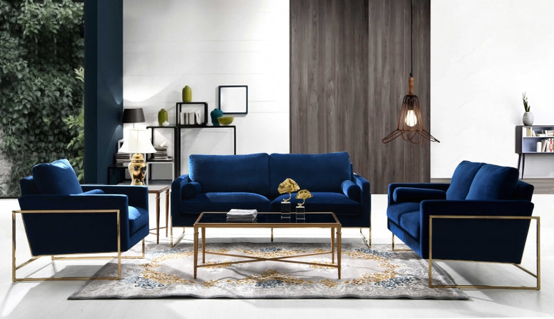 Anarie Living Room Group Navy (Sofa)