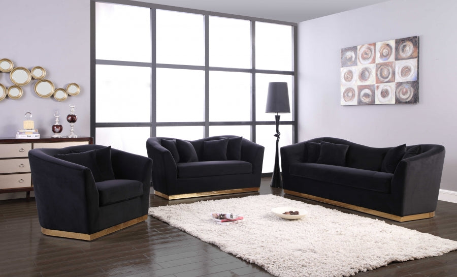 2pc Living Room Set: Sofa, Loveseat- FDCMF70617BL