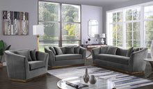 2pc Living Room Set: Sofa, Loveseat- FDCMF70617GY