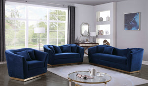 Avone Living Room Group Navy (Sofa)