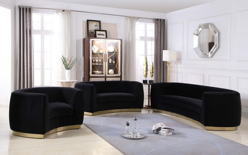 Dakona Living Room Group Black (Sofa)