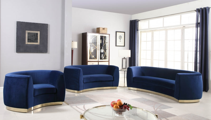 Dakona Living Room Group Navy (Sofa)