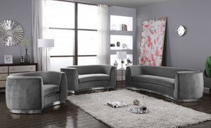 Dakona Living Room Chrome Group Grey (Sofa)