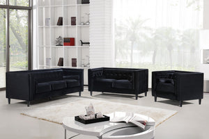 Halla Living Room Group Black (Sofa)