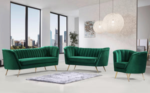 Brienne Living Room Group Green (Sofa)