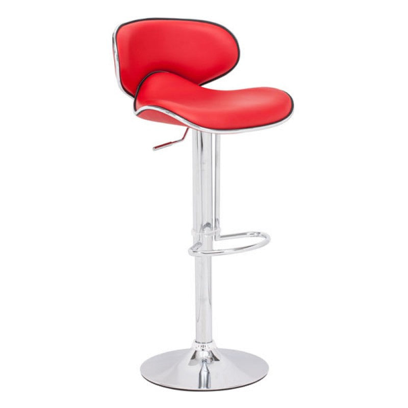 Curve Bar Chair Red