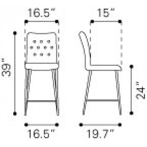 Stats Counter Chair Graphite