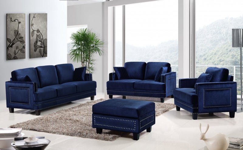 Monid Living Room Group Navy (Sofa)