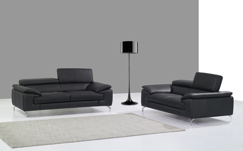 Ciro Premium 100% Leather Black Living Room Gorup (Sofa)