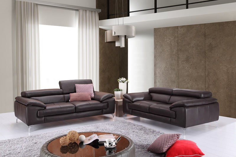 Ciro Premium 100% Leather Coffee Living Room Group (Sofa)