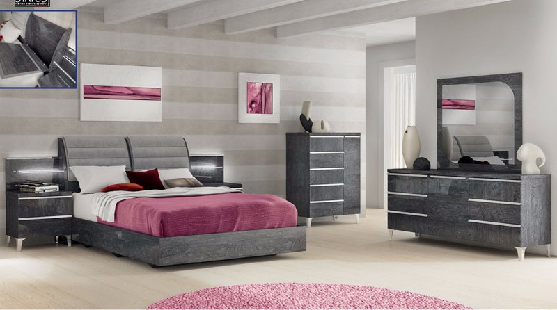 Bogavi Grey Bedroom Collection