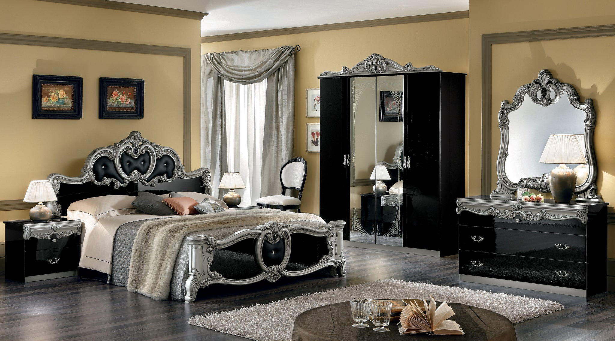 Coletti Black and Silver Bedroom Set – Furniture Design Centers on metallic silver bedroom, black and silver doors, black and silver car, black and silver comforter sets queen, black and silver boudoir, black and silver window, black and silver wallpaper, silver gray bedroom, black bedroom ideas, black bedrooms for girls, black and silver lounge, silver master bedroom, black and silver room, black and silver curtains, black and silver bathroom, black and silver hardware, black purple silver bedrooms, black and silver bookcases, gray and purple girls bedroom, modern silver bedroom,
