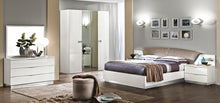 Kenida White Bedroom Collection - 5pc Set: Queen Bed, Double Dresser and Mirror