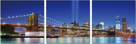 Brooklyn Premium 3 Panel Acrylic Wall Art - 27.5