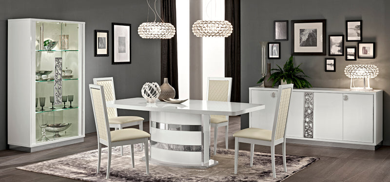 Salerno White Dining Room Collection