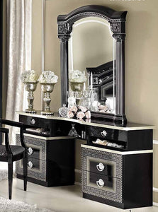 Doral Black and Silver Bedroom Set