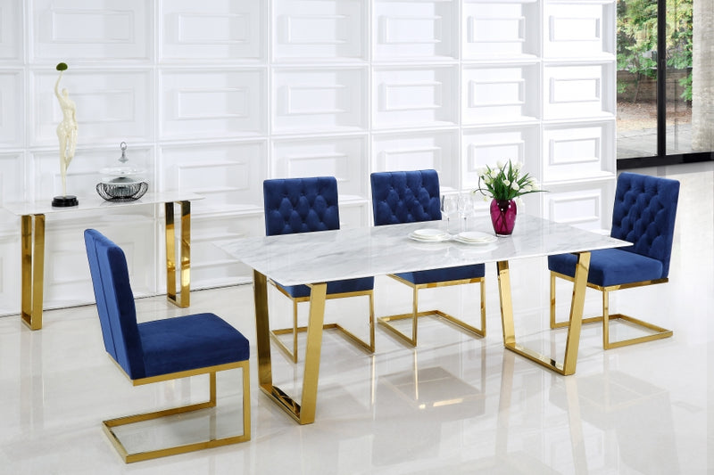 Dania 5pc Dining Room Set: Table and 4 Chairs- FDCMF70712NY
