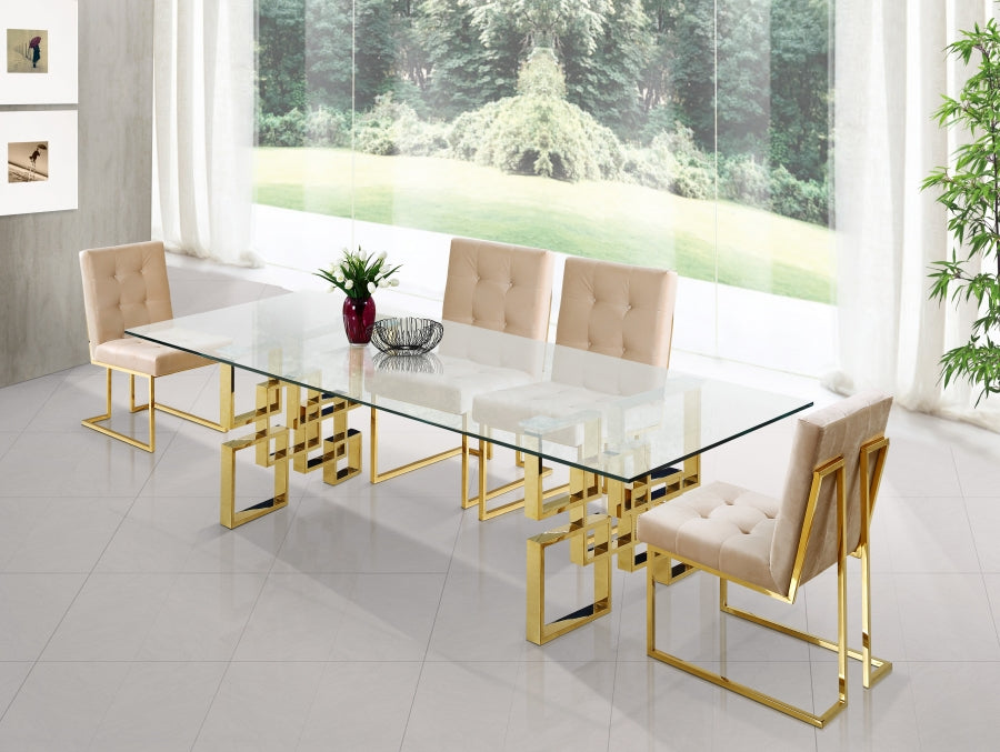 Brielle 5pc Dining Room Set: Table and 4 Chairs- FDCMF70714BE