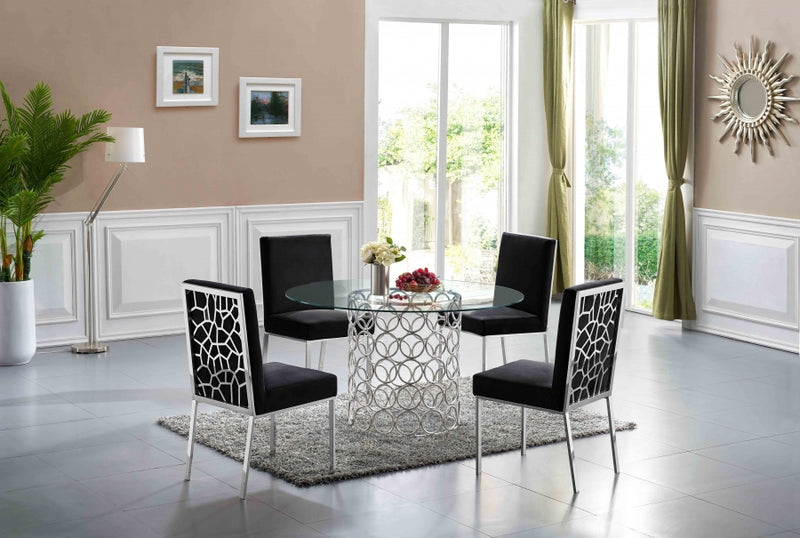 Sofiana 5pc Dining Room Set: Table and 4 Chairs- FDCMF70736BL